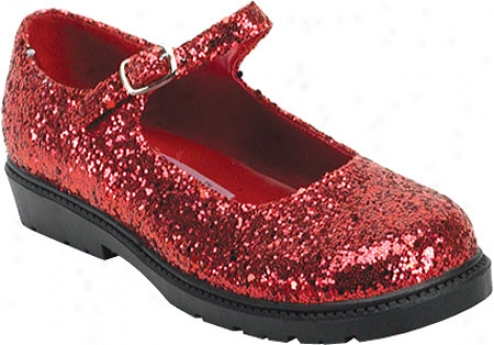 Funtasma Mary Jane 05g (girls') - Red Sparkle
