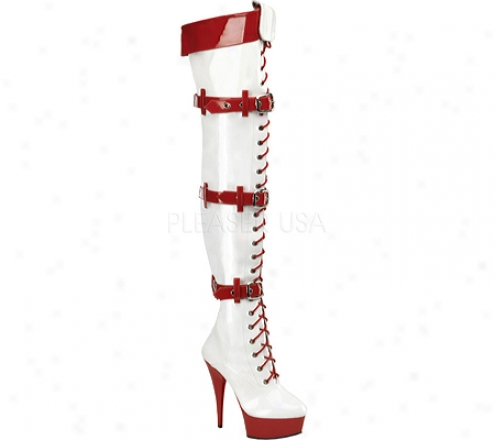 Funtasma Medic 3028 (women's) - White/red Patent