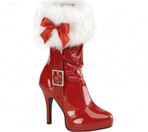Funtasma Merry 215 (women's) - Red Patent/white Faux Fur