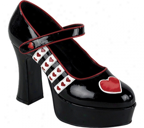 Funtasma Queen 55 (women's) - Black/white/red Pu