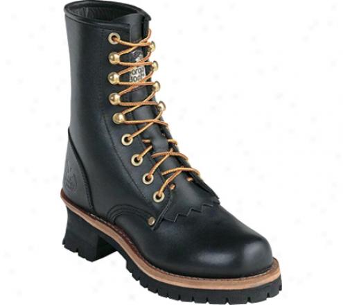 """georgia Boot G3290 8"""" Logger (women's) - Oily Black"""