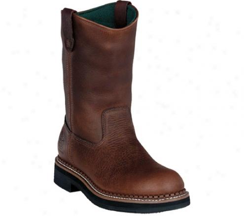 """georgia Bot G42 12"""" Waterproof Wellington (men's) - Red Brown Soggy Leather"""