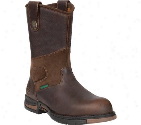 """georgia Boot G4313 10"""" Athens Pull-on Steel Toe (men's) - Brown"""