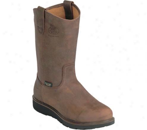 """georgia Boot G44 11"""" Wellington Comfort Core (men's) - Tan Cheyenne Spr Leather"""