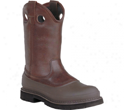 """""""georgia Boot G56 12"""""""" Safety Toe Pull On Mud Dog Solace Heart (men's) - Soggy Brown Full Grain Leather"""""""