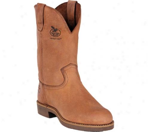 """georgia Boot G58 11"""" Wellington Comfort Core (men's) - Chestnut Prairie Spr Leather"""
