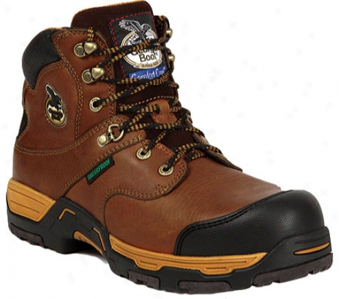 """georgia Boot G6435 Diamond Trax 6"""" Boot Waterproof (men's) - Brown"""