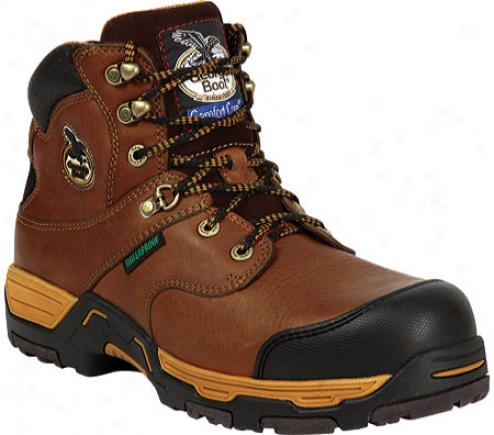 """georgia Boot G6445 Diamond Trax 6"""" Boot Waterproof St (men's) - Brown"""