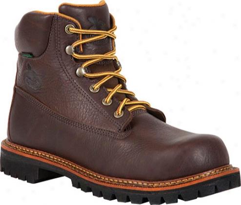 """georgia Boot G7314 6"""" Chieftan Steel Toe (men's) - Adventure Brown"""