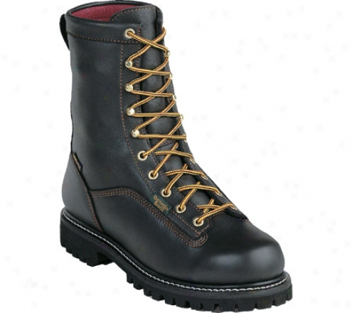 """georgia Boot G80 8"""" Insulated Waterproof Gore Texx Boot (men's) - Black Full Grain Leather"""