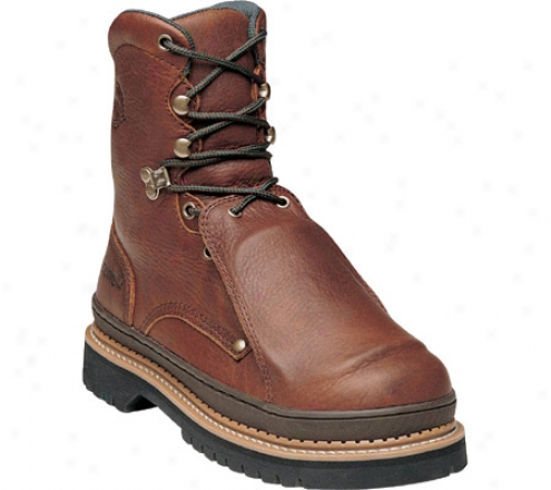 """georgia Boot G83 8"""" Safety Toe Georgia Giant Metatarsal (men's) - Soggy Brown Full Grain Leather"""