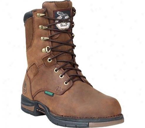 """georgia Boot  G8653 Athens 8"""" Steel Toe (men's) -  Brown"""