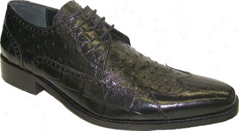 Giorgio Brutini 21010 (men's) - Black Croc Print/ostrich Print