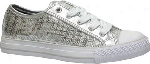 Gotta Flurt Disco (women's) - Silver Textile/sequin