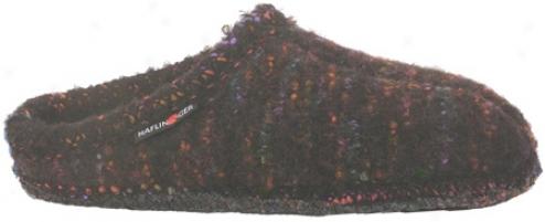 Haflinger Classic Slipper Multi - Black