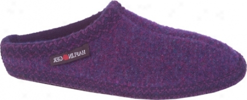 Haflinger Elegant Slipper (women's) - Purple Speckled