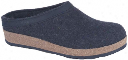 Haflinger Leather Trim Grizzly - Charcoal