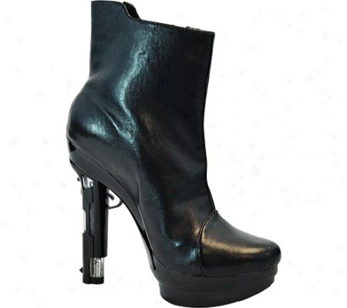 Highest Foot Handgun-51 (women's) - Black Kid Pu