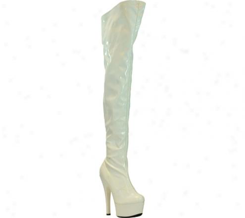 Highest Heel Legend (women's) - White Patent Stretch
