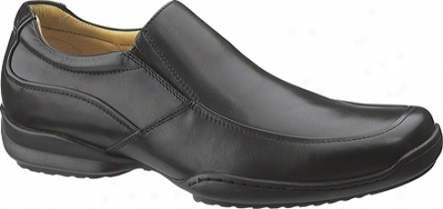 Hush Puppies Brussels (men's) - Black Smooth Leather