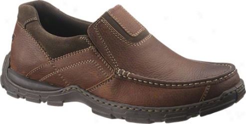 Hush Puppies Foster (men's) - Red Brown Tumbled Leather/suede