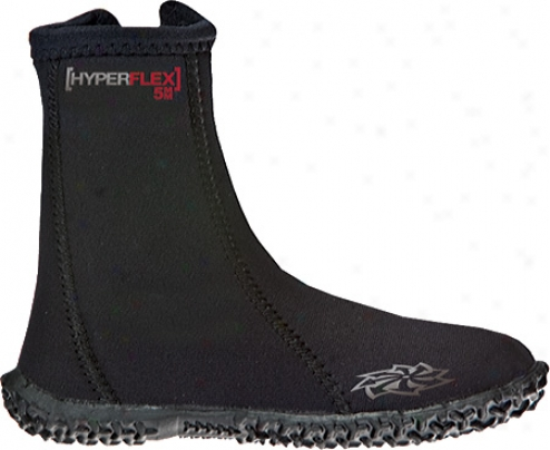 Hyperflex Wetsuits 5mm Hi-top Zipper Boot (children's) - Black