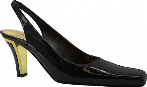 J. Renee Camilla (women's) - Black Open Leatherb/lack Frise