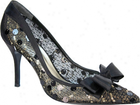 J. Renee Charish (women's) - Black/gold Sequin Mesh/satin
