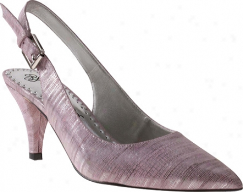 J. Renee Mallory (women's) - Fuchsia Metallic Linen Leather