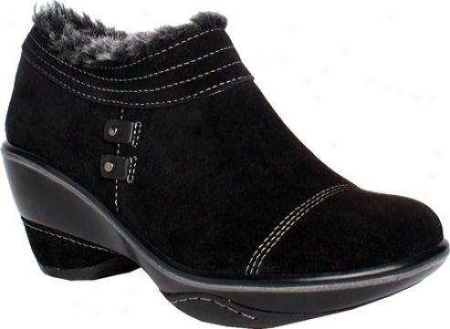 Jambu Beijing (women') - Black Brushed Suede/faux Leather