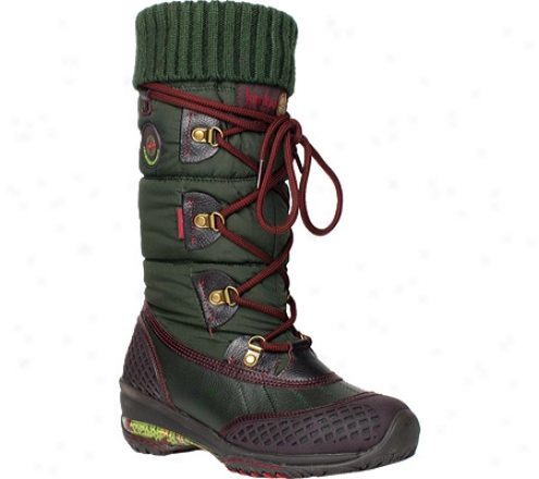 Jambu Burlinbton - Waterproof (women's) - Olive Waterproof Leather/fabric