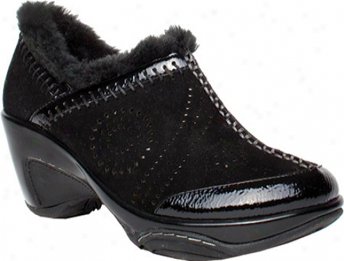 Jambu Galileo (women's) - Black Brushed Suede