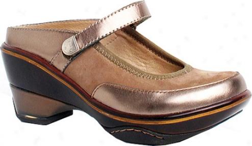 Jambu Santjago (women's) - Taupe/champagne Metallic Leather /nubuck