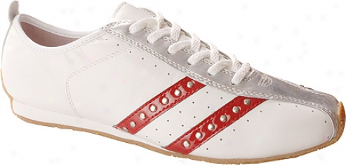 Jessica Simpon Look (women's) - White/red Silver/leather