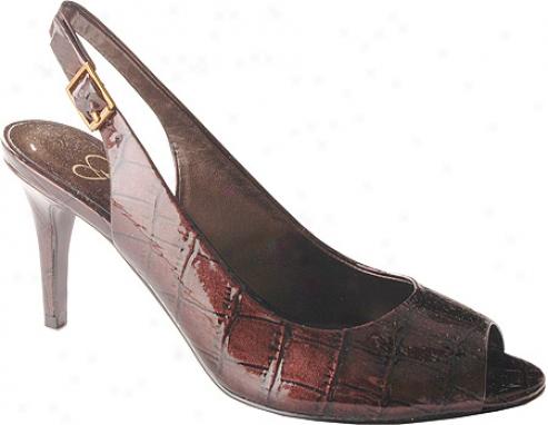 Jessica Simpson Maryznne (women's) - Saddle/grass Croco
