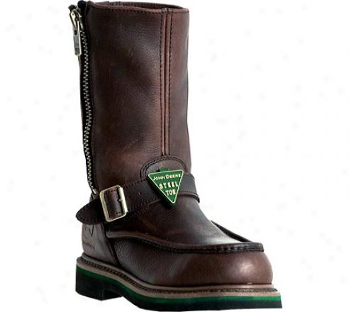 """john Deere Boots 11"""" Moc Toe Wllington Safety Toe (men's) - Brown"""