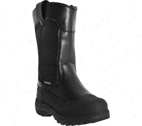 """""""john Deere Boots 12"""""""" Waterproof Miner's Steel Toe Puol Steady 9600 (men's) - Black Waterporof Oiled Leather"""""""
