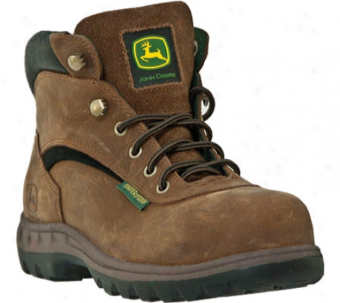 """john Deere Boots 5"""" Hiker Waterproof 3524 (women's) - Brown Waterproof Full Grain Leather"""