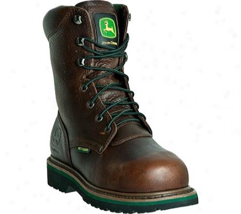 """""""john Deere Boots 8"""""""" Steel Toe Lace Up Internal Met Guard (men's) - Brown"""""""
