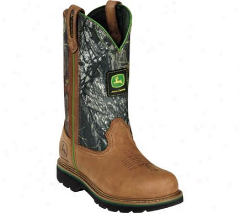 """john Deere Boots 9"""" Camo Wellington (women's) - Tan"""