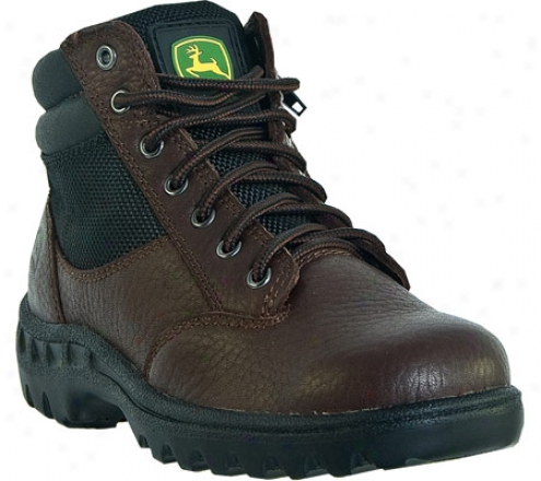 John Deere Boots Hiker Zipper Lace Up 1101 (infants') - Red/brown Leather