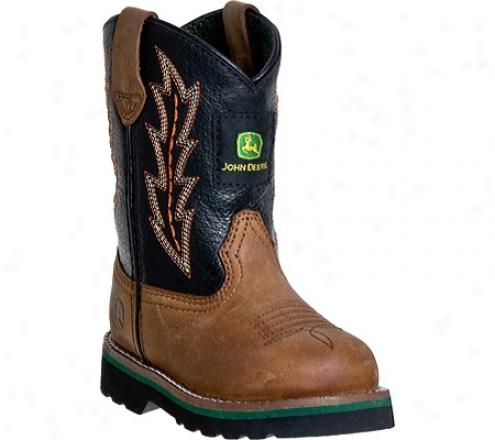 John Deere Boots Leather Wellington 1190 (infants') - Tan/black