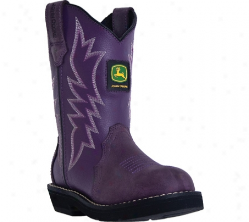 John Deere Boots Triad Pattern Wellington 2126 (girls') - Purple