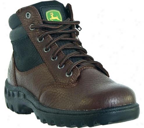 John Deeere Boots Waterpfoof Hiker Zipper Lace Up 3101 (children's) - Red/brown Leather