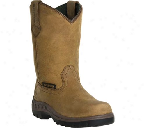 John Deere Boots Waterproof Wellington 2414 (children's) - Tan Tranper Waterproof Leather