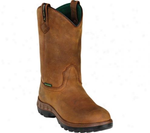 """""""john Deere Boots Wct 12"""""""" Waterproof Safety Toe Wellington 4604"""""""" (men's) - Tan"""""""