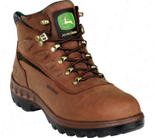 """john Deere Boots Wct 5"""" Waterproof Hiker 3504"""" (men's) - Tan"""