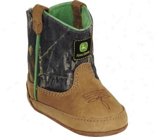 John Deere Boots Wellungton 0188 (infants') - Tan/camo Crazy Horse Leather/nylon