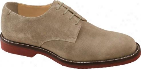 Johnston & Murphy Brennan Plain Toe (men's) - Taupe Suede