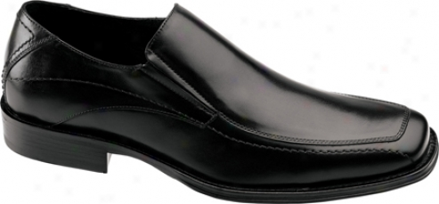 Johnston & Murphy Harding Moc Slip-on (men's) - Black Italian Caf